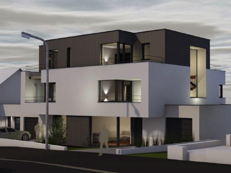 Domaine de 3 maisons d'architecte à CLEMENCY